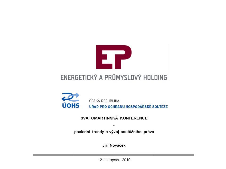 """12 Energetický sektor – elektřina (ČR) Závěry: """"dvojí regulace  důvody jsou zřejmé, záměry jsou komunikované, dopady jsou predikovatelné  jsou ale v souladu konkrétní kroky."""
