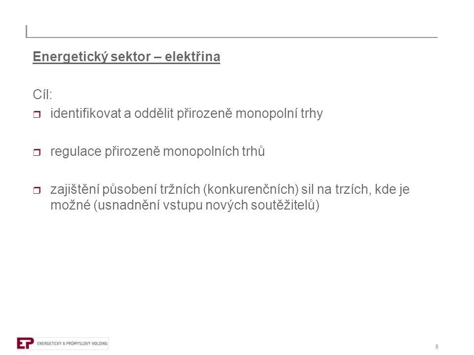 7 Energetický sektor – elektřina Trhy: (ustálená rozhodovací praxe - COMP/M.3696 - E.ON/MOL, COMP/M.