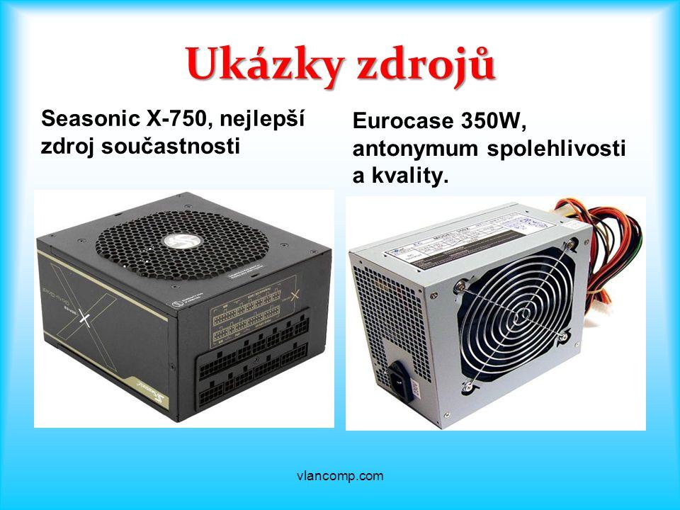 Ukázky zdrojů Seasonic X-750, nejlepší zdroj součastnosti Eurocase 350W, antonymum spolehlivosti a kvality.