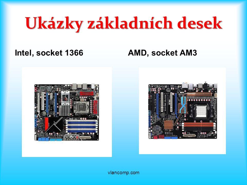 Ukázky základních desek Intel, socket 1366AMD, socket AM3 vlancomp.com