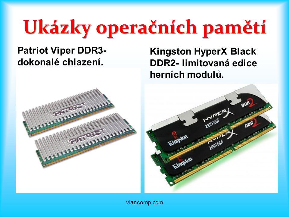 Ukázky operačních pamětí Patriot Viper DDR3- dokonalé chlazení.