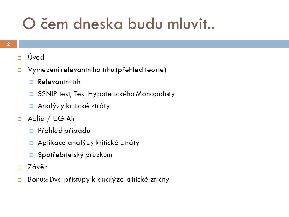 """Aelia, UG Air  """"Travel retail  Parfémy, kosmetika, oblečení, módní doplňky, potraviny, ne(alko), lihoviny, tabák  Produktový relevantní trh  Aelia i UG Air - srovnatelná produktová nabídka  Geografický relevantní trh  """"...taková oblast, ve které jsou podmínky soutěže dostatečně homogenní... => fungující arbitráž  Letiště Praha Ruzyně (?) => CLA 13"""