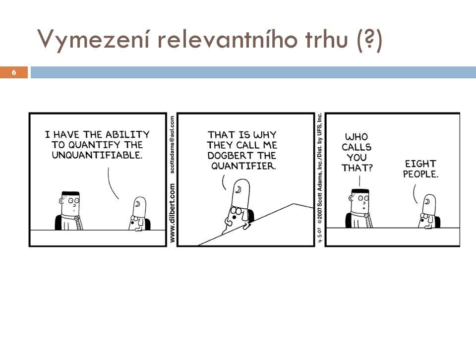 Vymezení relevantního trhu (?) 6