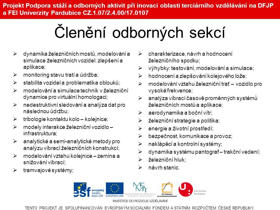 Projekt Podpora stáží a odborných aktivit při inovaci oblasti terciárního vzdělávání na DFJP a FEI Univerzity Pardubice CZ.1.07/2.4.00/17.0107 TENTO PROJEKT JE SPOLUFINANCOVÁN EVROPSKÝM SOCIÁLNÍM FONDEM A STÁTNÍM ROZPOČTEM ČESKÉ REPUBLIKY.