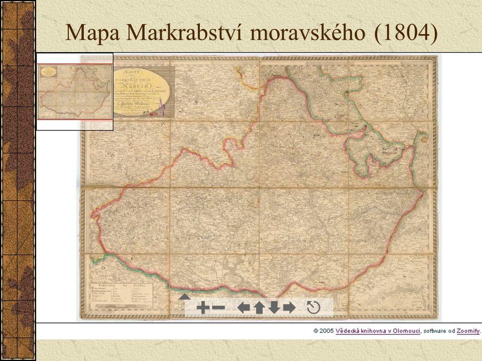 Mapa Markrabství moravského (1804)