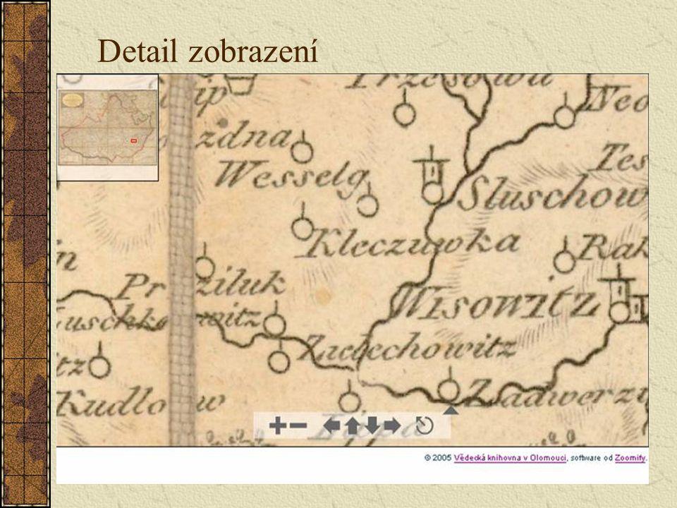 Detail zobrazení