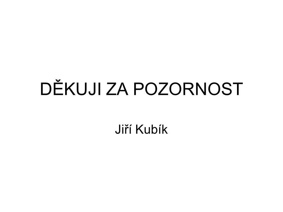 DĚKUJI ZA POZORNOST Jiří Kubík