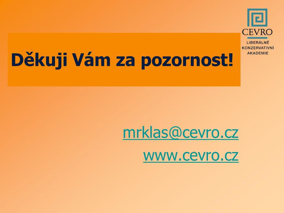 mrklas@cevro.cz www.cevro.cz Děkuji Vám za pozornost!