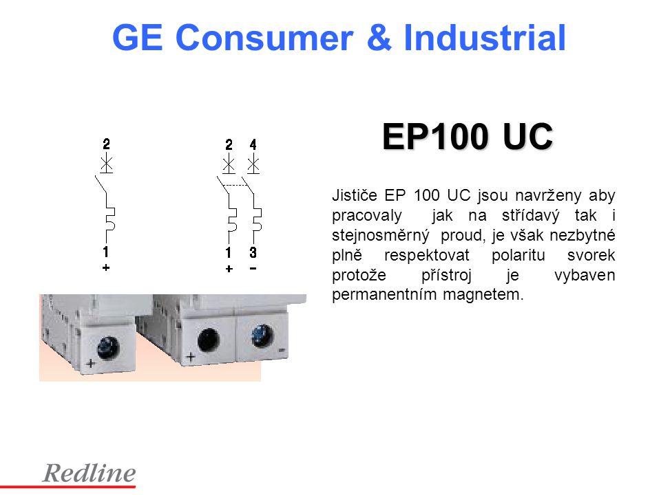 GE Consumer & Industrial Jističe EP 100 UC jsou navrženy aby pracovaly jak na střídavý tak i stejnosměrný proud, je však nezbytné plně respektovat pol
