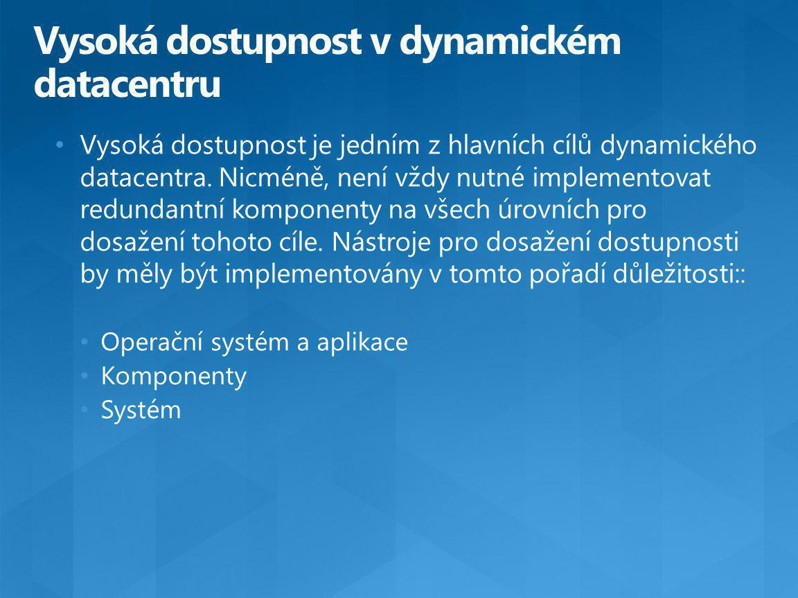 Vysoká dostupnost je jedním z hlavních cílů dynamického datacentra.