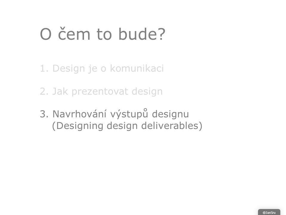 O čem to bude. 1. Design je o komunikaci 2. Jak prezentovat design 3.