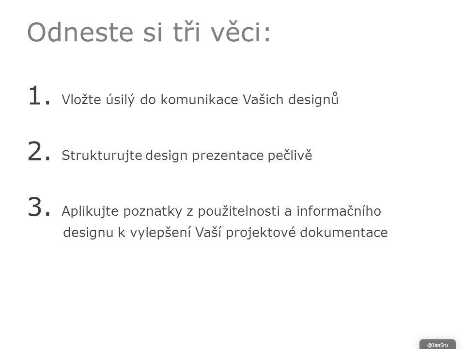 Odneste si tři věci: 1. Vložte úsilý do komunikace Vašich designů 2.