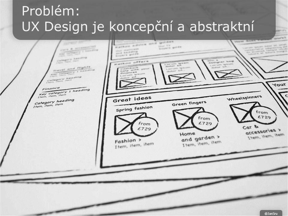 Problém: UX Design je koncepční a abstraktní @JanSru