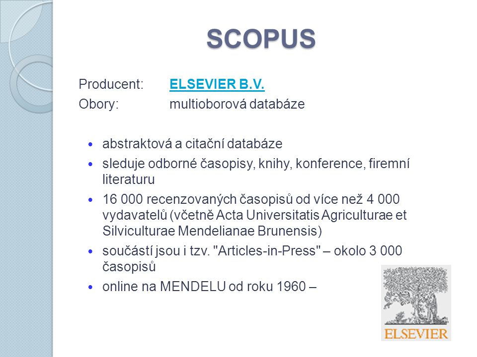 SCOPUS Producent:ELSEVIER B.V.ELSEVIER B.V.