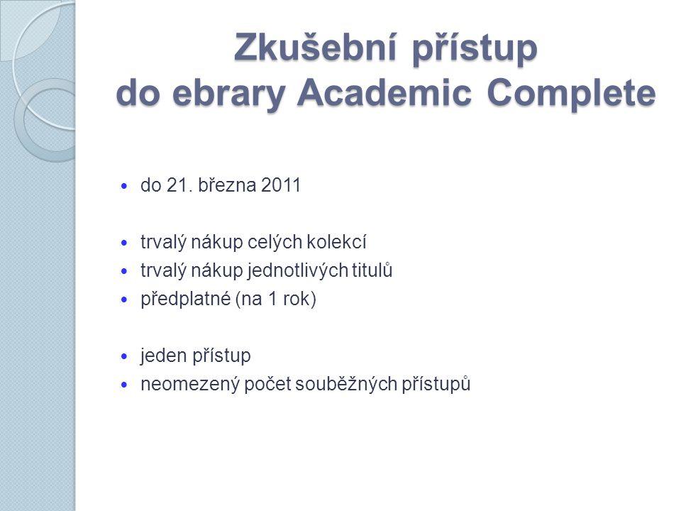 Zkušební přístup do ebrary Academic Complete do 21.