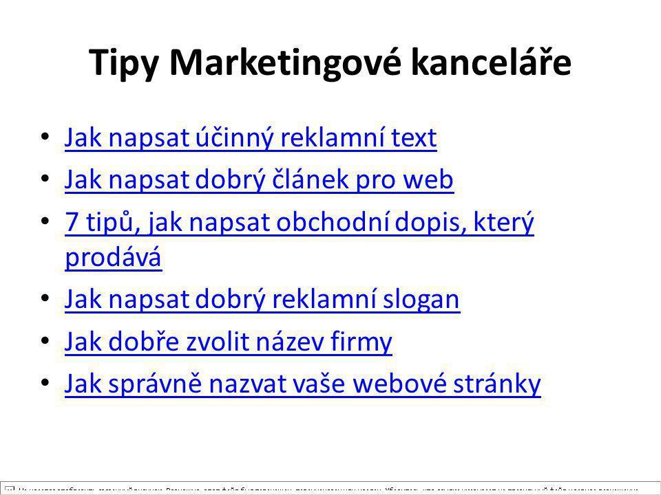 Tipy Marketingové kanceláře Jak napsat účinný reklamní text Jak napsat dobrý článek pro web 7 tipů, jak napsat obchodní dopis, který prodává 7 tipů, j