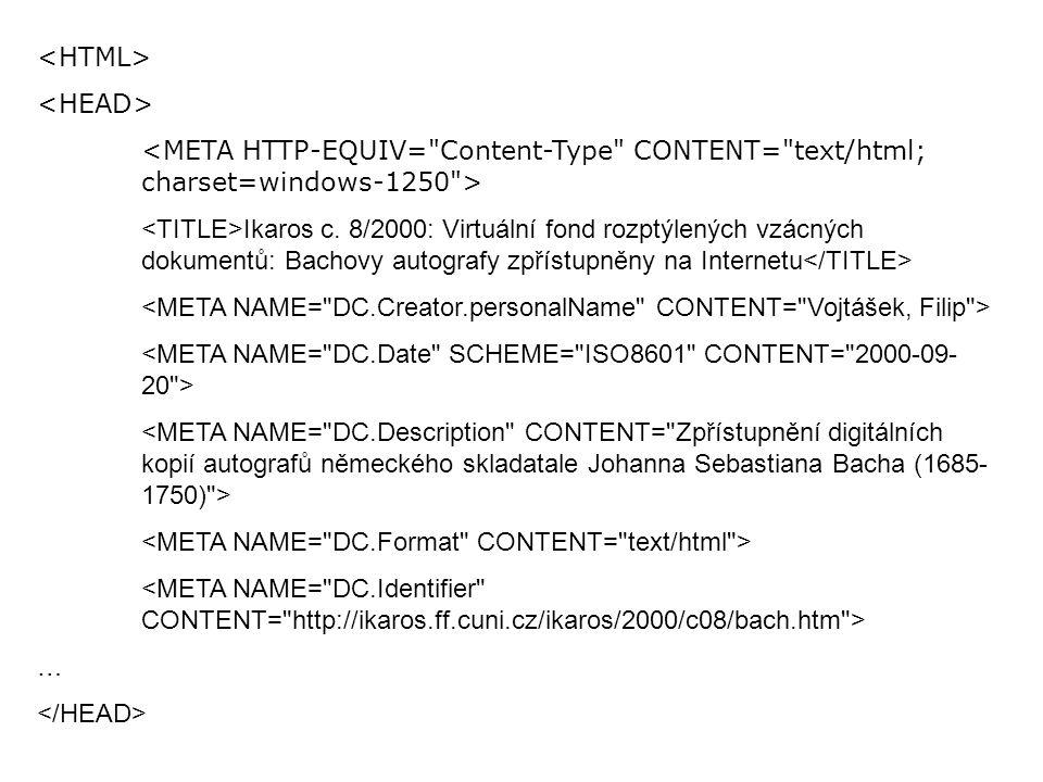 Ikaros c. 8/2000: Virtuální fond rozptýlených vzácných dokumentů: Bachovy autografy zpřístupněny na Internetu …