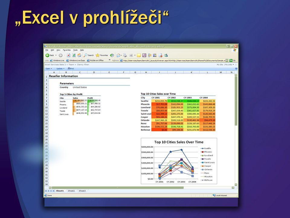 """""""Excel v prohlížeči"""""""