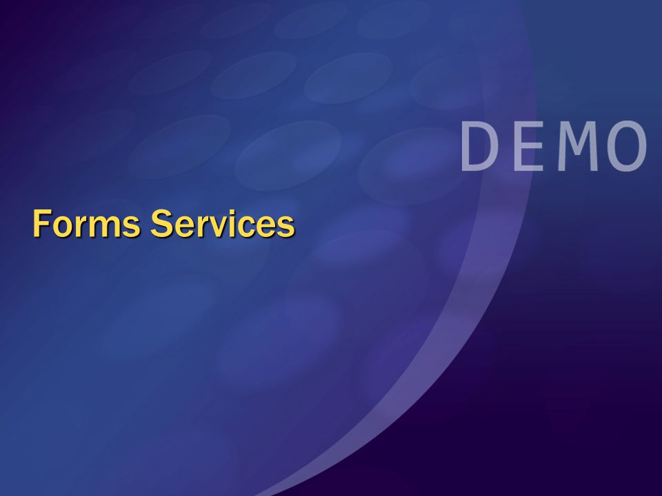 Forms Services