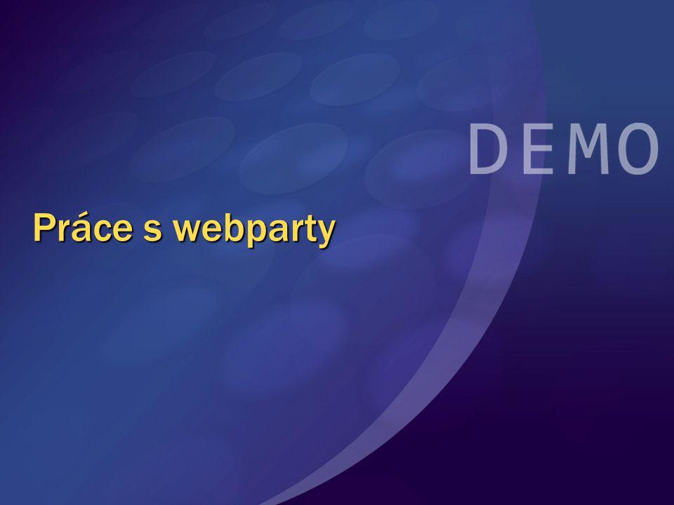 Práce s webparty
