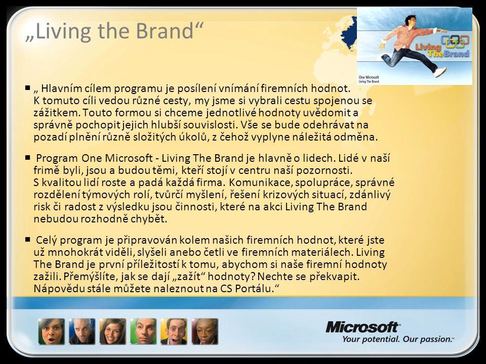 """""""Living the Brand  """" Hlavním cílem programu je posílení vnímání firemních hodnot."""