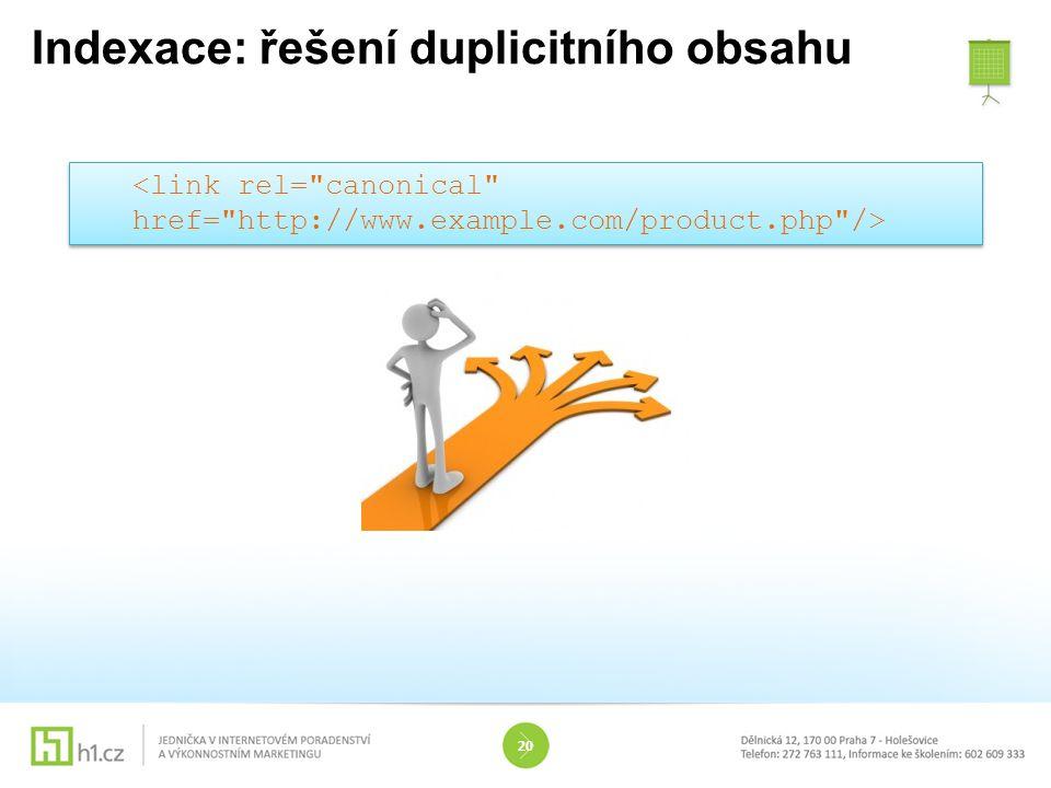 Indexace: řešení duplicitního obsahu 20