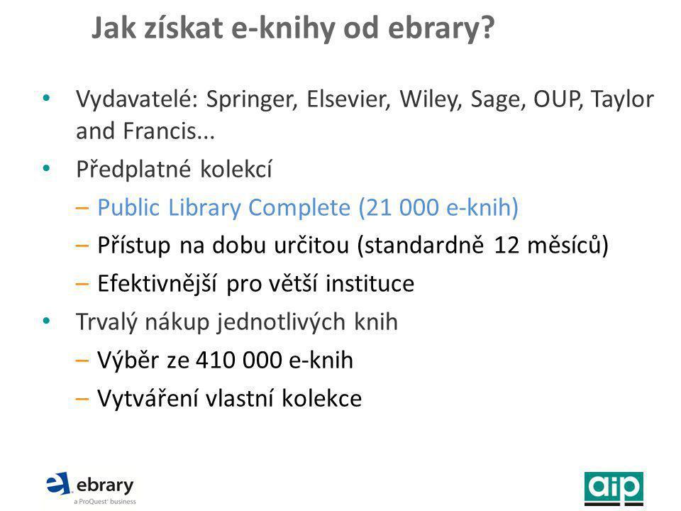 Jak získat e-knihy od ebrary.