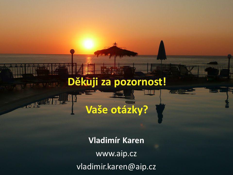Děkuji za pozornost! Vaše otázky Vladimír Karen www.aip.cz vladimir.karen@aip.cz