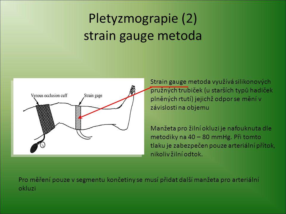 Pletyzmografie (3) impedanční metody Různé tkáně mají různý odpor.