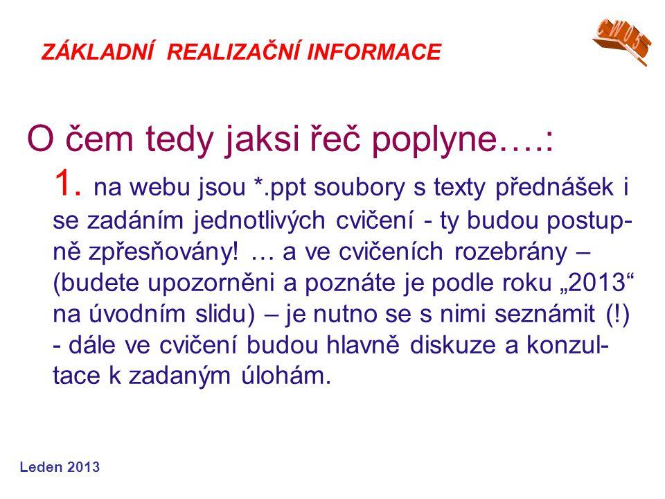 Leden 2013 O čem tedy jaksi řeč poplyne….: 2.