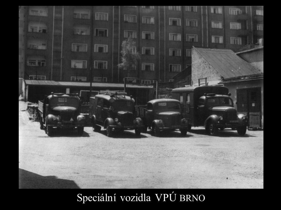Speciální vozidla VPÚ BRNO