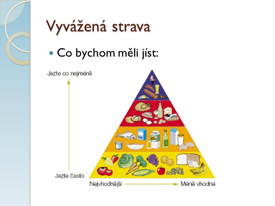 Vyvážená strava Co bychom měli jíst: