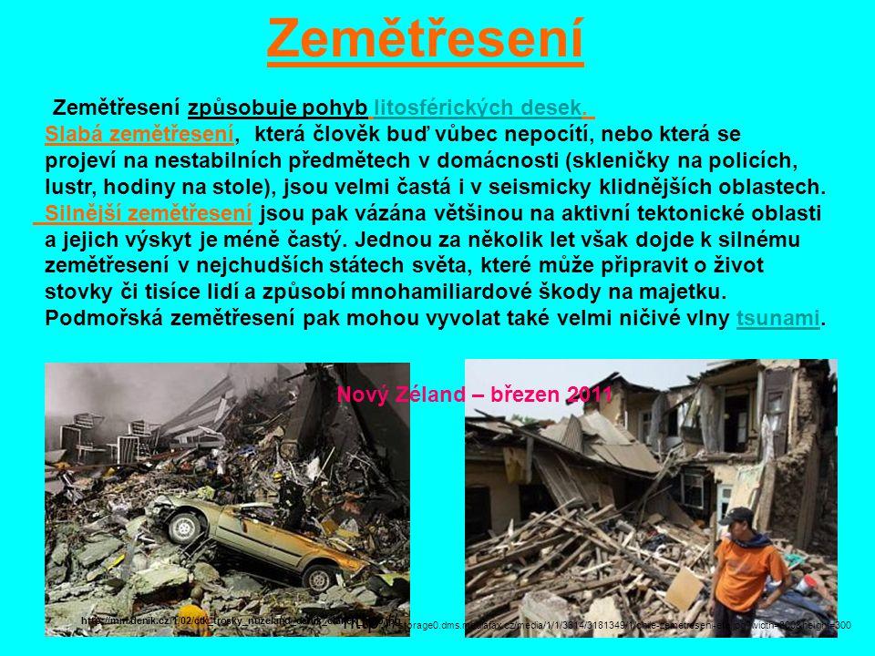 Místo vzniku zemětřesení se nazývá ohnisko neboli hypocentrum,hypocentrum jeho kolmý průmět na zemském povrchu se nazývá epicentrum.průmětepicentrum http://cdn.theatlantic.com/static/infocus/jpq03111/j05_11114869.jpg Japonsko – březen 2011