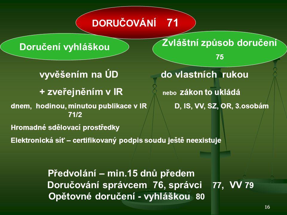 17 Insolvenční návrh Moratorium Vyhláška = účinky = IR Rozhodnutí o IN Rozhodnutí, že D není v Ú 2h -prohlášení konkurzu -povolení reorganizace -povolení oddlužení 1D Rozhodnutí o způsobu řešení Ú - Odmítnutí 7D - Zastavení - Zamítnutí -Zamítnutí pro NM -Rozhodnutí o úpadku 10D, 15D přeměna v konkurz 3 M
