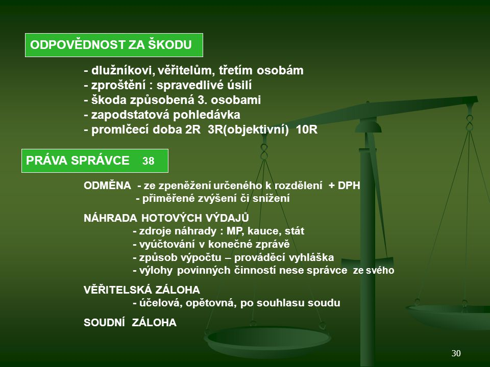31 Zkoušky insolvenčních správců Vyhl.MS č. 312/07 Sb.