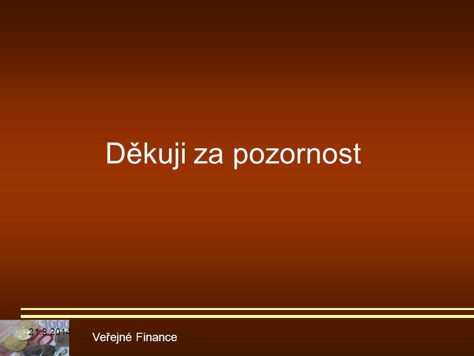 Děkuji za pozornost Veřejné Finance 21.8.2014