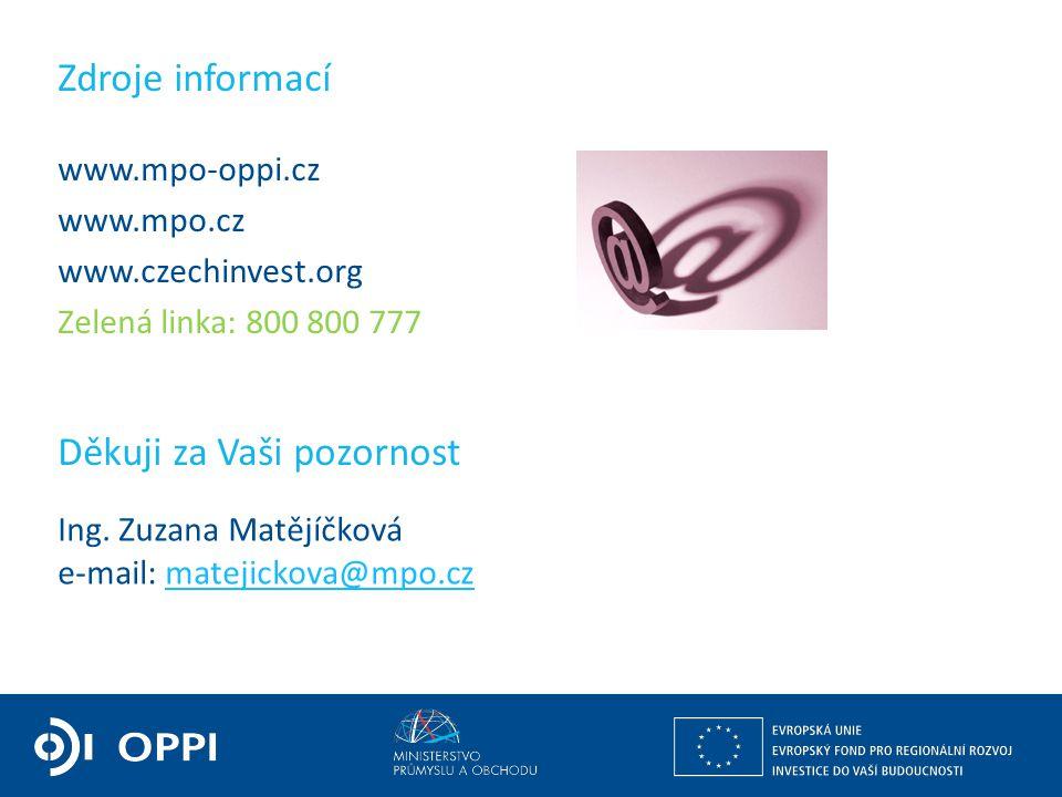 Ing. Martin Kocourek ministr průmyslu a obchodu ZPĚT NA VRCHOL – INSTITUCE, INOVACE A INFRASTRUKTURA www.mpo-oppi.cz www.mpo.cz www.czechinvest.org Ze