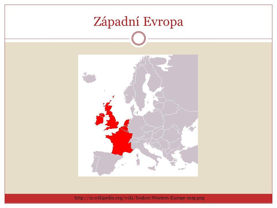 Západní Evropa http://cs.wikipedia.org/wiki/Soubor:Western-Europe-map.png