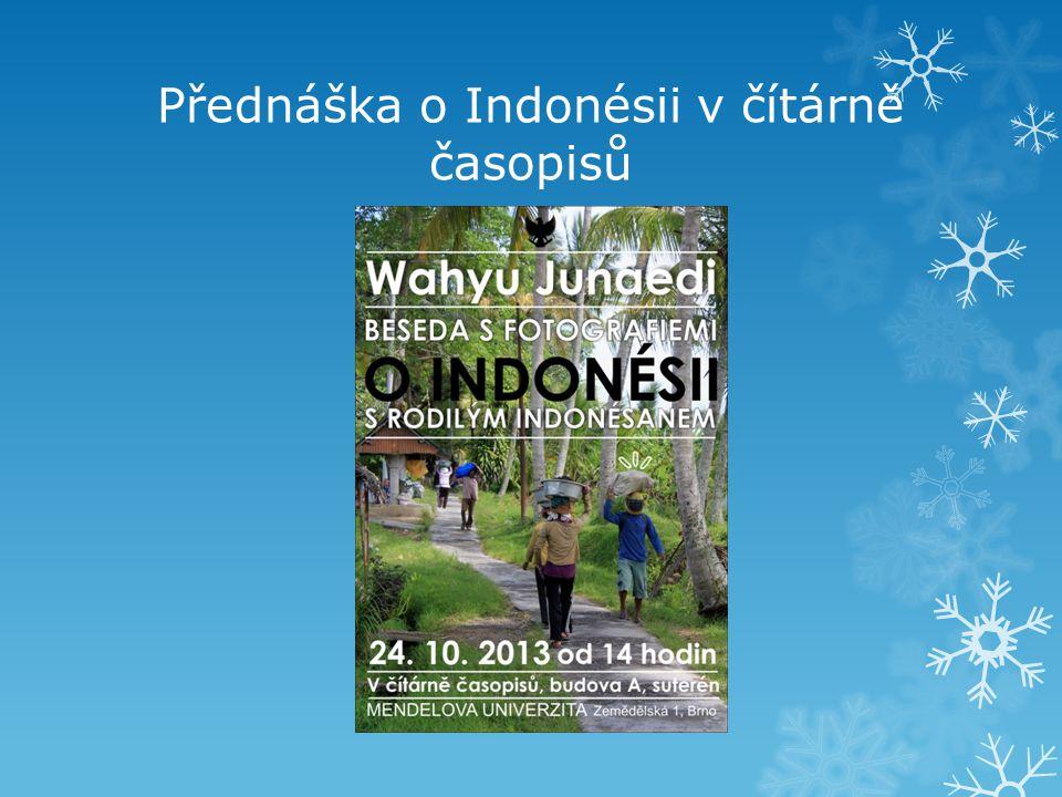 Přednáška o Indonésii v čítárně časopisů