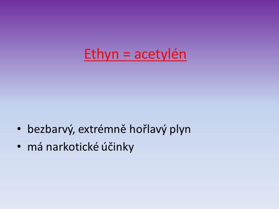 Použití: spolu s kyslíkem se používá k hoření do autogenu, tj. k řezání a svařování kovů autogenem