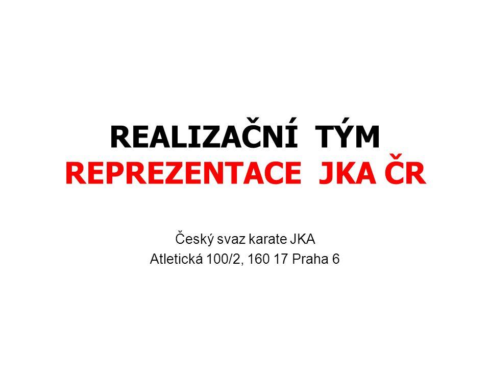 REALIZAČNÍ TÝM REPREZENTACE JKA ČR Český svaz karate JKA Atletická 100/2, 160 17 Praha 6