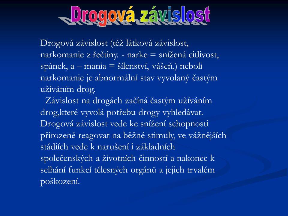 Drogová závislost (též látková závislost, narkomanie z řečtiny.