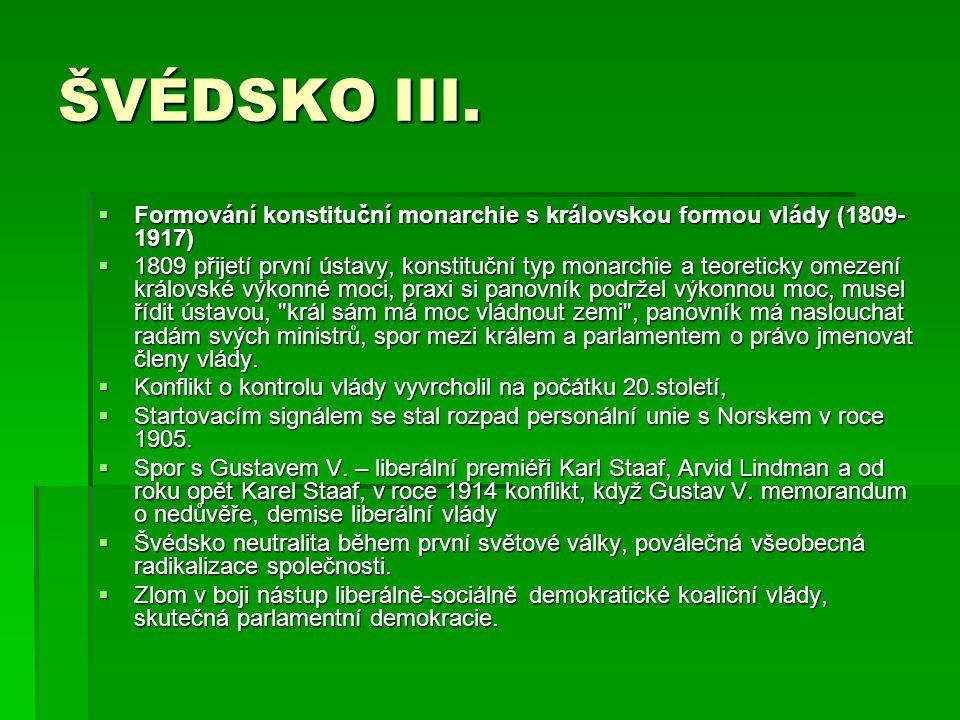 ŠVÉDSKO IV.
