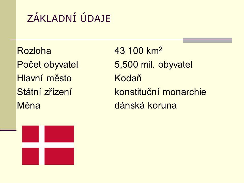 ZÁKLADNÍ ÚDAJE Rozloha43 100 km 2 Počet obyvatel5,500 mil.