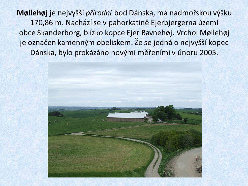 Møllehøj je nejvyšší přírodní bod Dánska, má nadmořskou výšku 170,86 m. Nachází se v pahorkatině Ejerbjergerna území obce Skanderborg, blízko kopce Ej