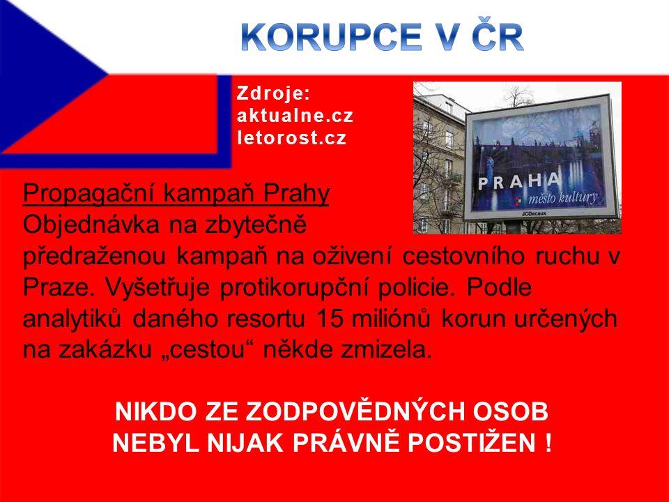 Propagační kampaň Prahy Objednávka na zbytečně předraženou kampaň na oživení cestovního ruchu v Praze.