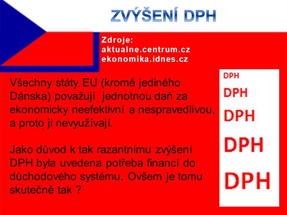 Všechny státy EU (kromě jediného Dánska) považují jednotnou daň za ekonomicky neefektivní a nespravedlivou, a proto ji nevyužívají.