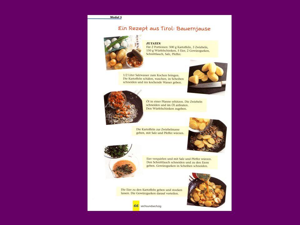"""Kompetence komunikativní Žák dokáže formulovat: co dělá pro své zdraví a jak často; co je zdravé a co nezdravé; co komu škodí (Rauchen schadet der Gesundheit); co smí/má/musí jíst – pít význam pojmu """"vegetariánství – veganství proč něco nesmí jíst, pít množství kalorií v potravě recept na přípravu vybraného pokrmu problém svůj nebo někoho blízkého týkající se zdravého životního stylu pís."""