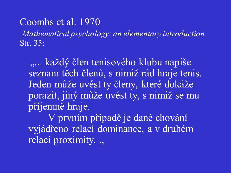 Dominance mezi kategoriemi téhož druhu Např.