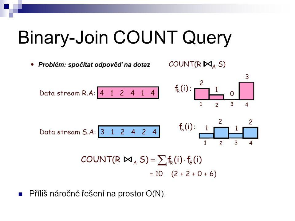 Binary-Join COUNT Query Příliš náročné řešení na prostor O(N).